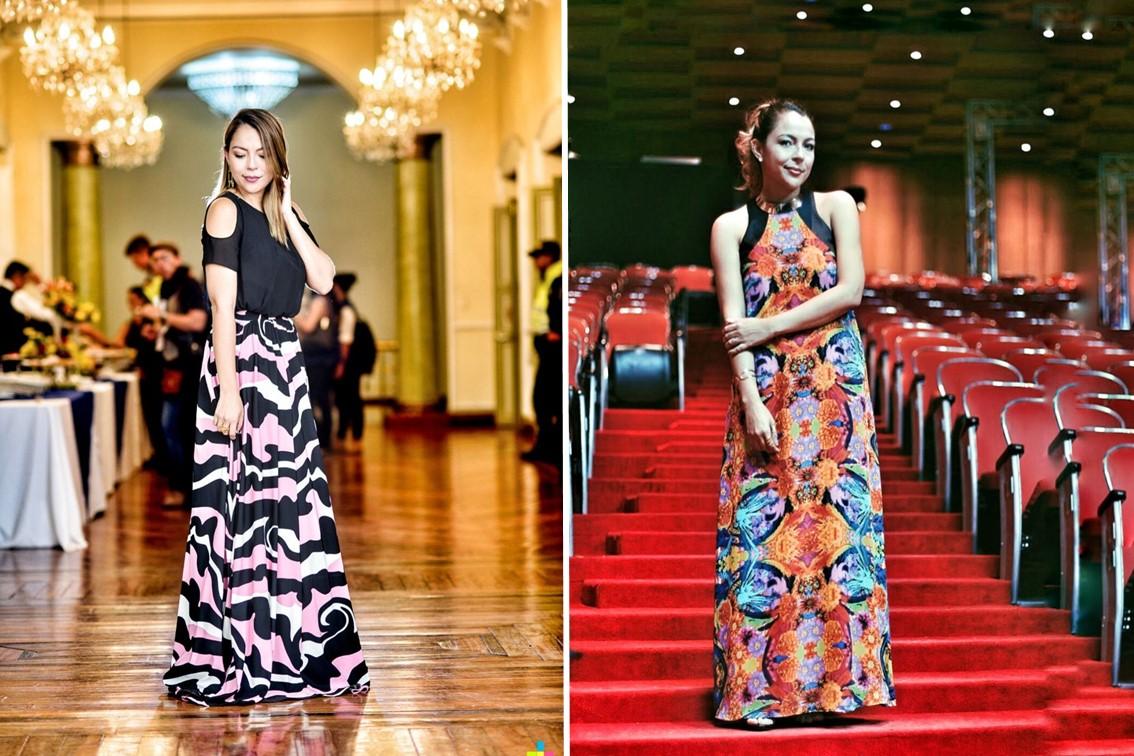Falda y vestido de Maribel Arango Moda sostenible Anna Peñafort tendencias de moda 2017