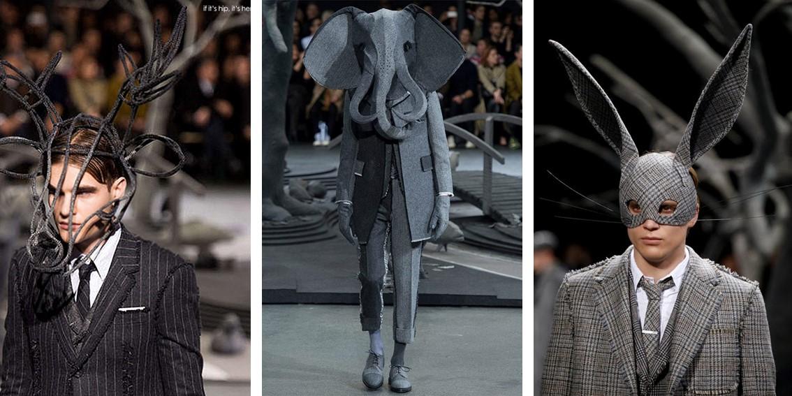 colaboraciones en el mundo de la modaThom Browne y Stephen Jones (2014) blog de moda Anna Peñafort